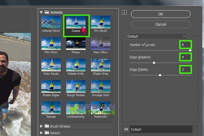 Convert videos to cartoon in Photoshop cc 2017